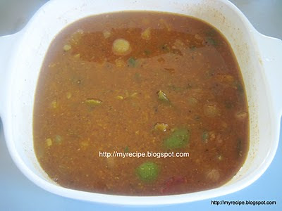 Vangaya Sambar is spicy gravy
