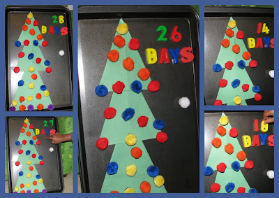 Use magnetic numbers for countdown and keep changing the number