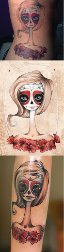 day of the dead tattoos pictures. day of the dead tattoos for