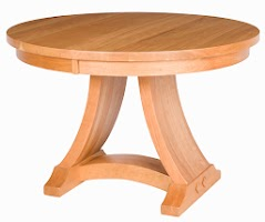 Adagio Dining Table in Red Cherry, 42″ x 42″ x 28″, Oval Tabletop