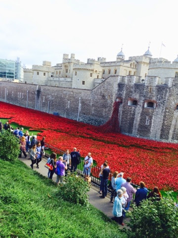 Tower of London Poppies spotted on our Fireman Sam Ocean Rescue Day