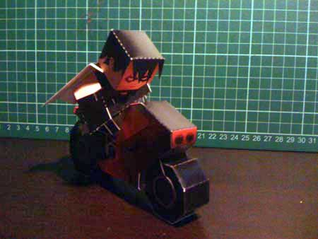 The Bike Paper Toy