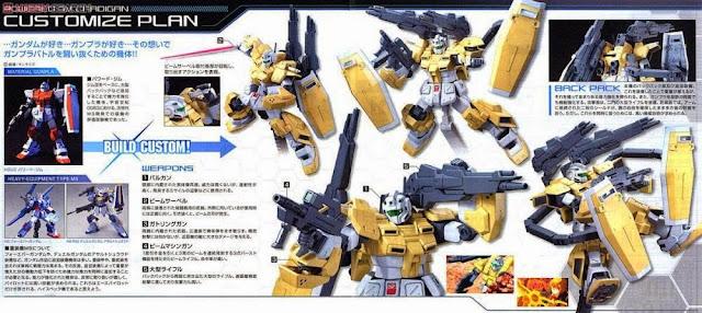 Gundam Powered GM Cardigan trong bộ quân trang và vũ khí đặc sắc