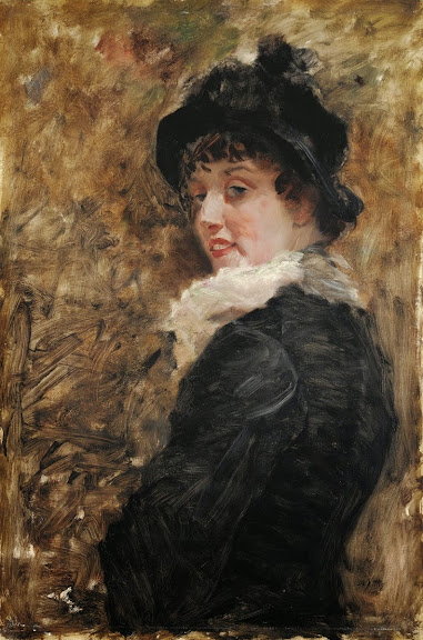 Giuseppe De Nittis - Portrait of Young Woman