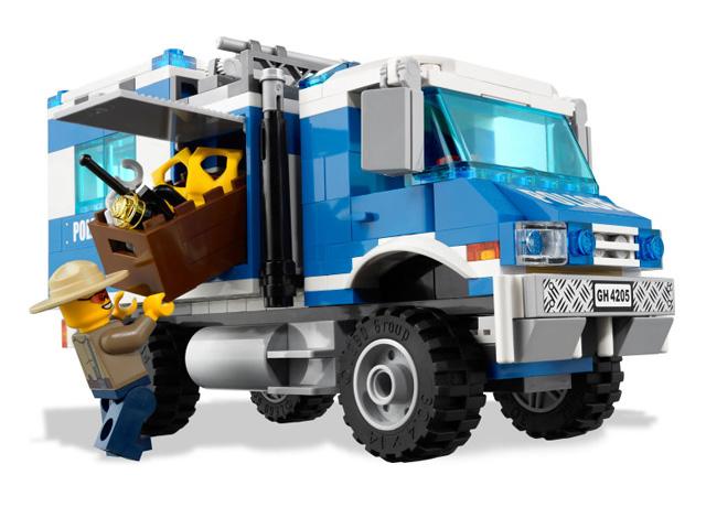 レゴ シティ ポリス指令トラックとポリスボート 4205