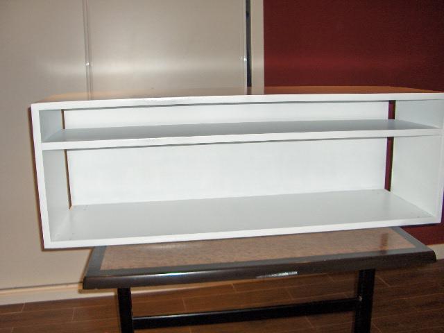 El taller de flory pondy mueble para tv - Pintura satinada blanca ...