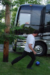 then we played some more ball back at the bus