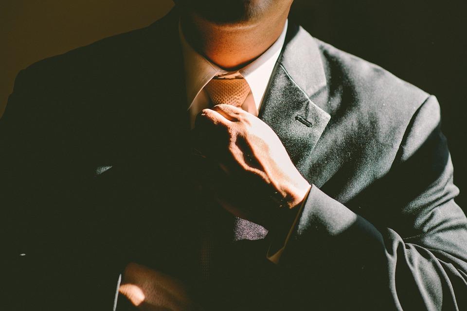 ネクタイ, 調整, 調整します, 男, ビジネス, 実業家, 成功, スーツ, 企業