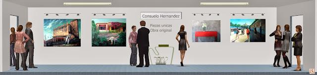 Sala de exposición virtual de pinturas de Consuelo Hernández
