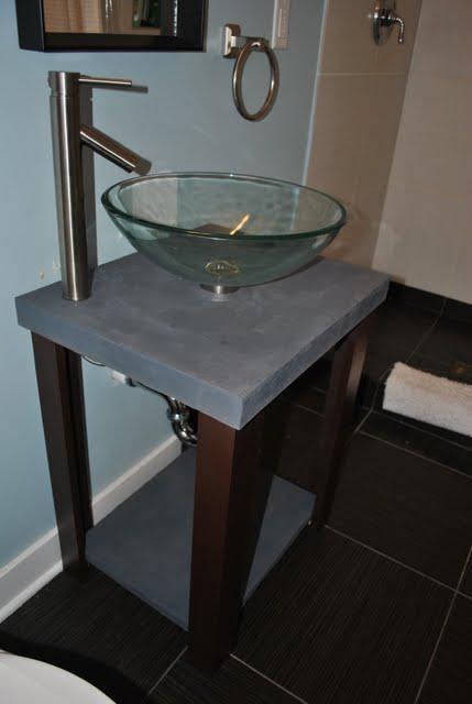 Concrete Top Vanity Desk : Diy concrete table dave and kelly davis
