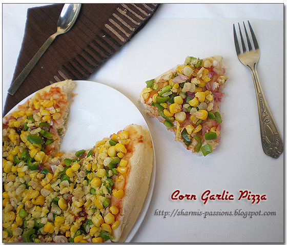 Corn Garlic Pizza