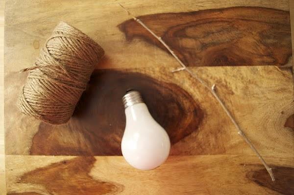 Decoração com lâmpadas - materiais