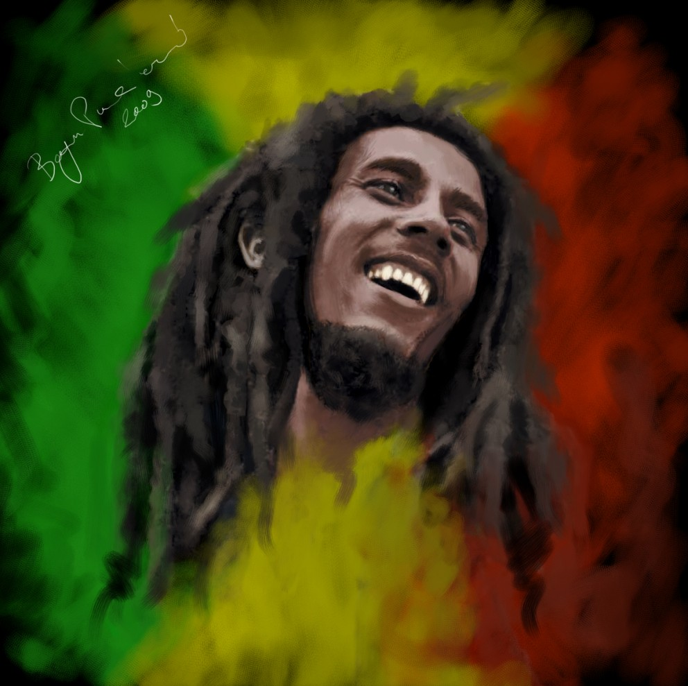 WallpapersKu: Bob Marley Pictures In Art