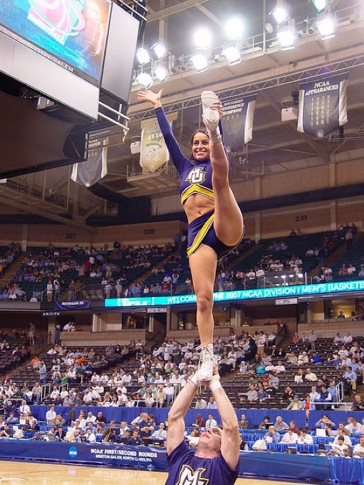 Marquette Golden Eagles Cheerleader Pictures:Safe For Work0