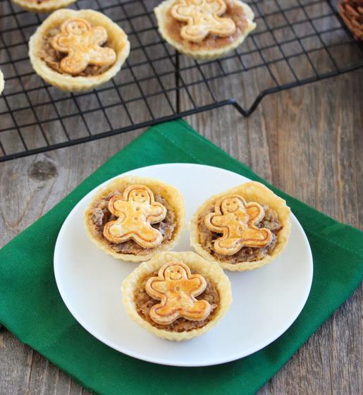 overhead photo of mini pecan pies