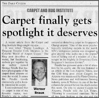 Carpet Gets Spotlight It Deserves by Werner Braun