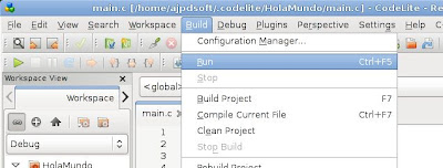 Mi primera aplicación para Linux en C++ con Codelite
