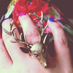 Gold Deer Ring || Charming Charlie's