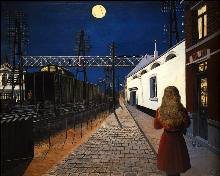Paul Delvaux - Loneliness, 1956