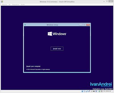 Instalación de Windows 10 - VirtualBox - Instalar ahora