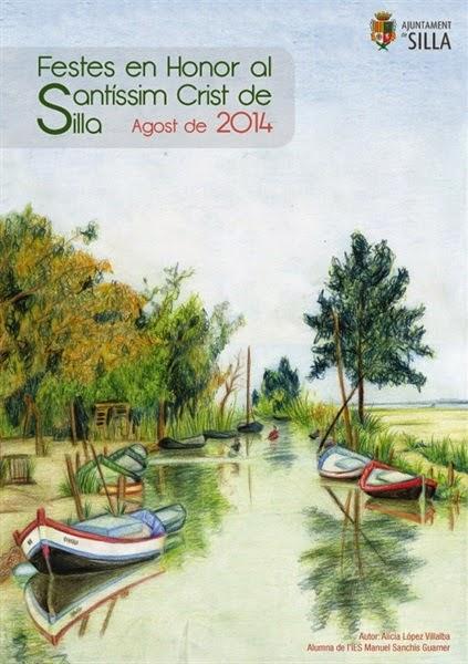 Cartel programa de fiestas patronales Silla 2014