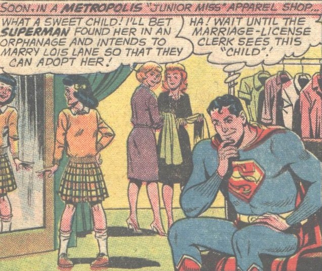 What a sweet child! I'll bet Superman found her in an orphanage ...