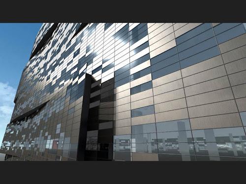 Imagen de fachada ventilada en el Hotel Castellana 200