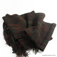 Handwoven Scarf- Deep Christmas