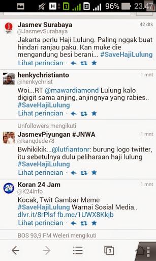 Twitter sarkasme untuk Haji lulung yang ngetop