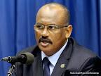 Le général Abdallah Wafi, Représentant spécial adjoint du secrétaire général de l'ONU chargé de l'Est de la RDC lors  de la conférence de presse le 12/11/2014 au quartier général de la Monusco à Kinshasa. Radio Okapi/ Ph. John Bompengo