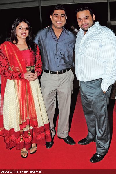 Reshma, Ranju and Ousu at the wedding reception of Singer Ranjini Jose and Ram Nair, held in Kochi.