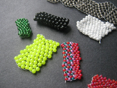 Peyote Stitch with Czech Seed Beads and Round Acrylic Beads