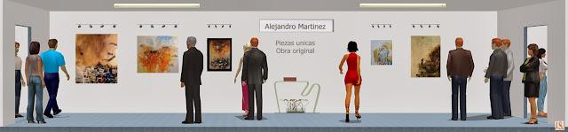 Sala de exposición virtual de pinturas de Alejandro Martínez Corredor