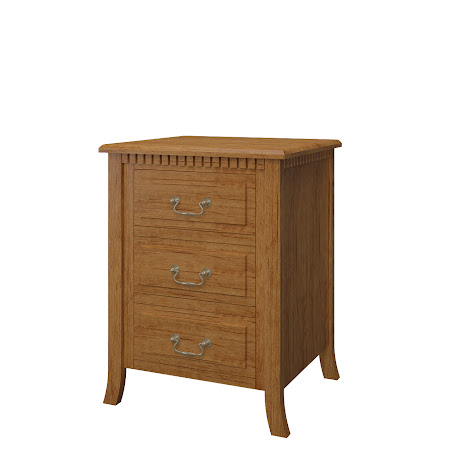 Lisbon Nightstand with Drawers, Como Maple