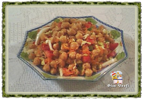 Salada de grão de bico