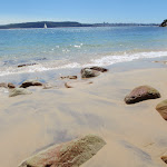 Looking to Middle Head from Lady Bay Beach (255515)