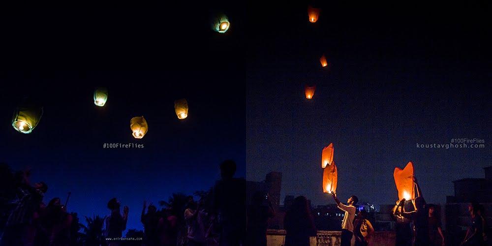 Sky lantern, Kolkata