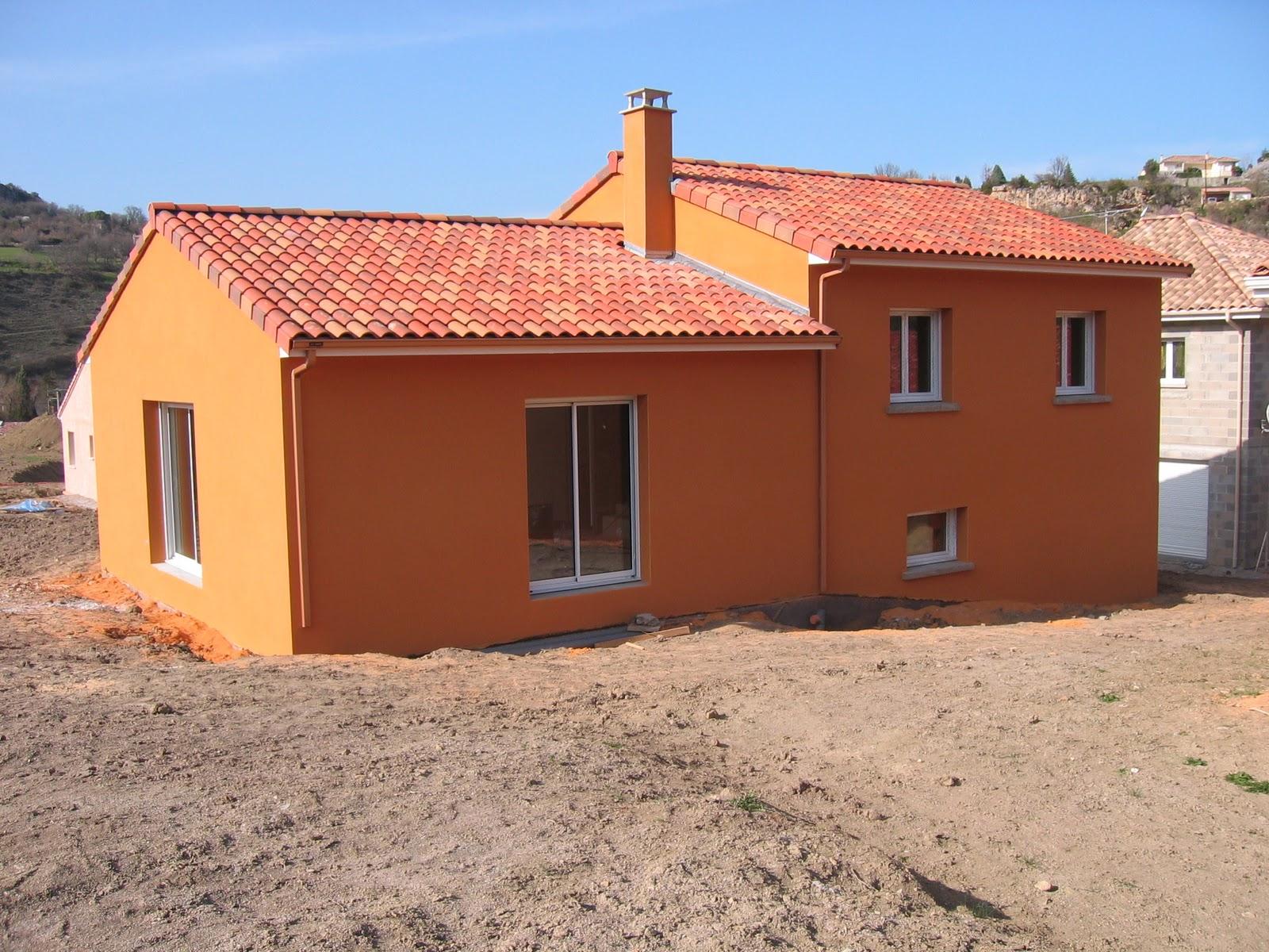 Notre maison en construction creissels cr pis for Crepis parex