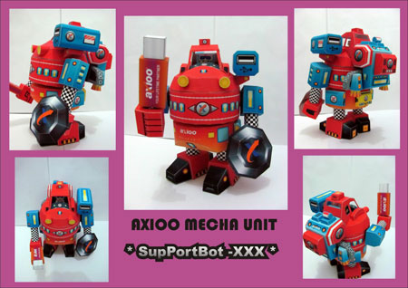 Axioo Mecha Unit SupportBot Paper Toy