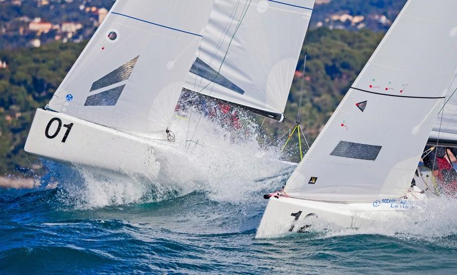 J/70s sailing off Monte Carlo, Monaco in Primo Cup