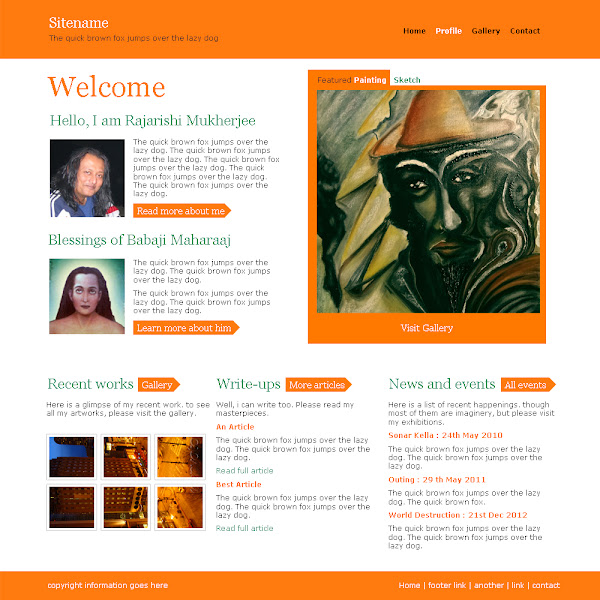 artist's website design