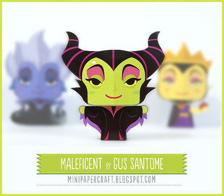 Mini Maleficent Papercraft