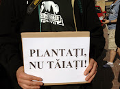 Plantaţi, nu tăiaţi! - Protest împotriva distrugerii spaţiilor verzi din Suceava