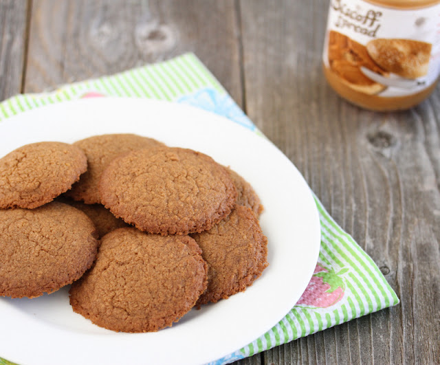 Biscoff Spread Cookies on a plate