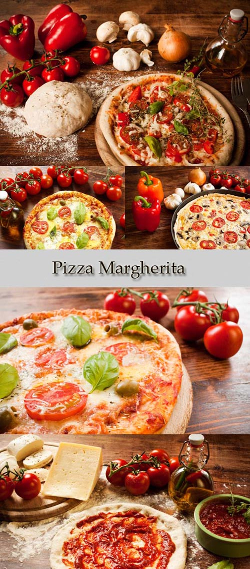 Stock Photo: Pizza Margherita