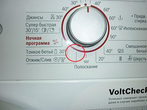 Режим стиральной машины Отжим