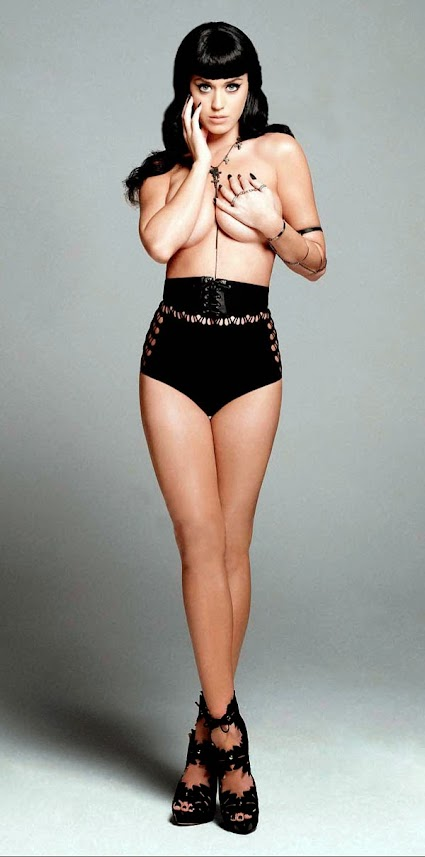 Katy Perry top less