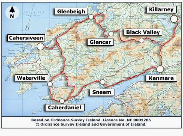Map Of Ireland Kenmare.M M Smith July 2014 Ireland Kerry Way Day 8 Sneem To Kenmare