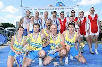 Championnat de France 2013 vétérans 4 + catégorie C Claude TALAMONA, Pierre NOUGAREDE, Andre PECARIC, Christophe DELOT, barreur : Estelle FINOT Médaille d'or