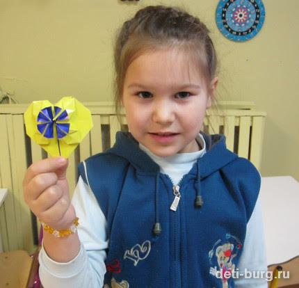 Оригами сердце готово